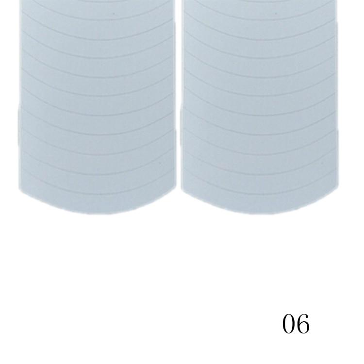New Fashion 48PCS/Lot Nail Sticker DIY French Manicure Nail Art Decorations Round Form Fringe Guides Nail Sticker 11