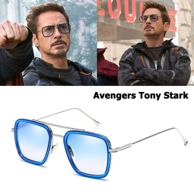6b3a6a84e8 JackJad 2018 Fashion Avengers Tony Stark Flight 006 Style Sunglasses Men  Square Aviation Brand Design Sun