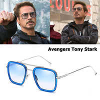 JackJad 2020 mode Avengers Tony Stark vol 006 Style lunettes De soleil hommes carré Aviation marque Design lunettes De soleil Oculos De Sol