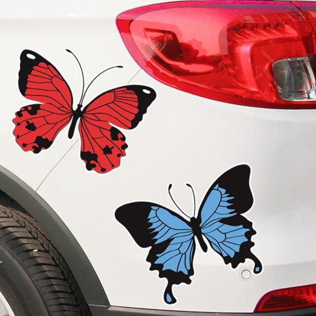 57333b254c1 Calcomanías y calcomanías de coche de estilo mariposa para coches de  dibujos animados automóviles creativos motocicleta