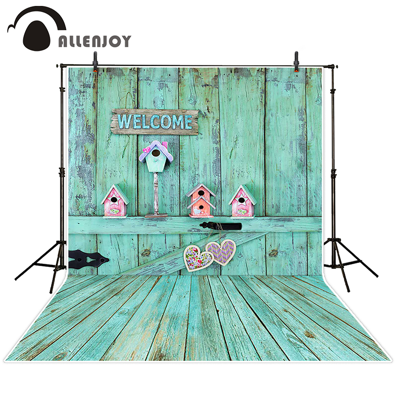 Allenjoy photographic background Wooden wall love nest backdrops princess christmas vinyl Excluding bracket 8 x 8 ft недорого