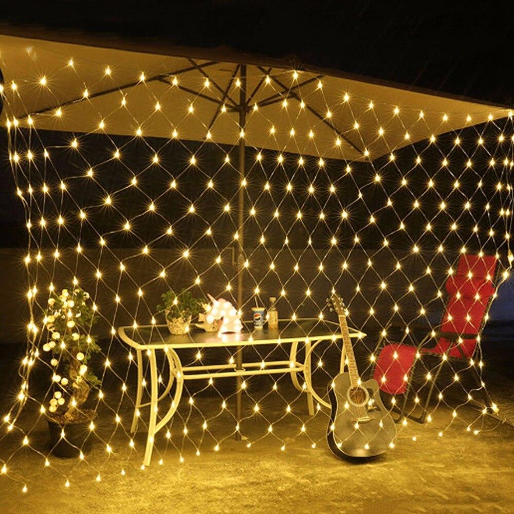 Lights & Lighting Conscientious Us Standard 110v /eu Standard 220v Net Mesh Led String Lights Warm White Decoration Lamps 96 Led/200led Lighting Strings