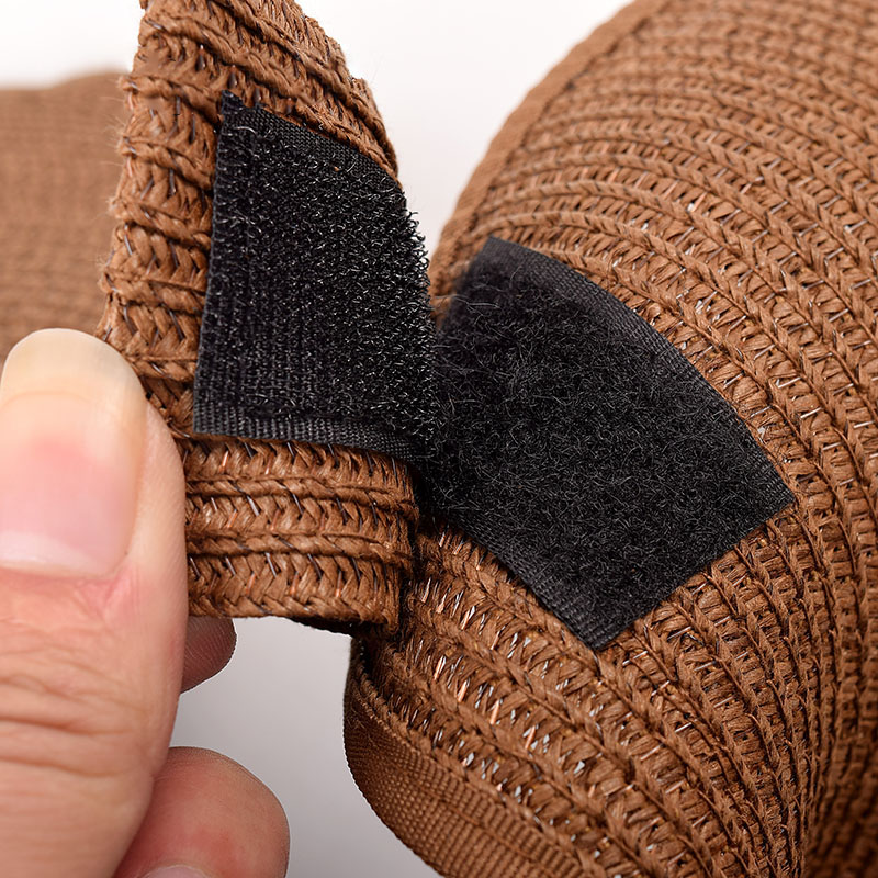 5c3debb2e9bf1 Women s Wide Brim Roll up Straw Sun Visor ZZ4067-in Sun Hats from Women s  Clothing   Accessories on Aliexpress.com