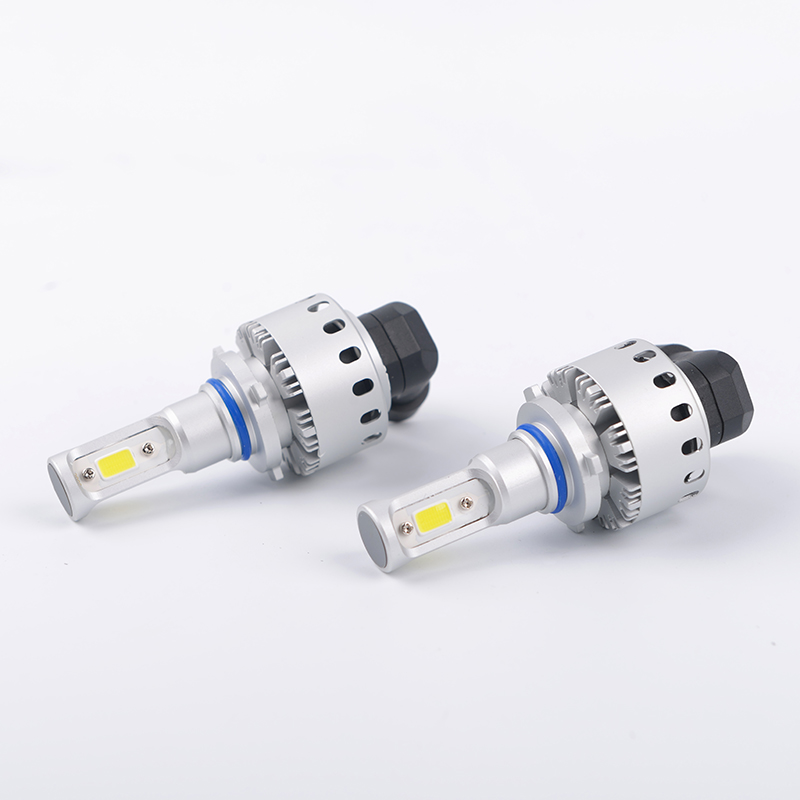 LDDCZENGHUITEC All in one 9005 HB3 COB LED Headlight 50W 6000lm 6000K Xenon White Plug and play car-styling headlamp