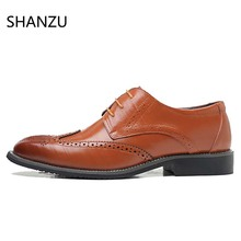 Купить с кэшбэком New Spring Fashion Oxford Business Men Shoes Genuine Leather High Quality Soft Casual Breathable Men's Flats Hollow Shoes 618