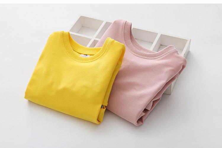 2018 Spring Autumn 2-10 11 12 Years Old Teenager Children Patchwork Fake 2 Pcs Baby Kids Basic Sweatshirt For Girls 11 12 Years (10)