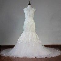 New Model High Neck A Line Vestido De Noiva Bride Dress Wedding Dress With Appliques And