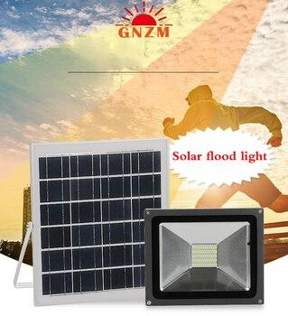 50 วัตต์น้ำท่วมพลังงานแสงอาทิตย์อัจฉริยะรีโมทคอนโทรลกลางแจ้งกันน้ำแผนที่แสงสวนพลังงานแส...