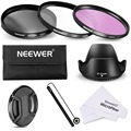 Neewer 62MM Lens Filter Accessory Kit for 62MM Lens Cameras:UV CPL FLD Filter+Carry Pouch+Lens Hood+Lens Cap+Cap Keeper Leash