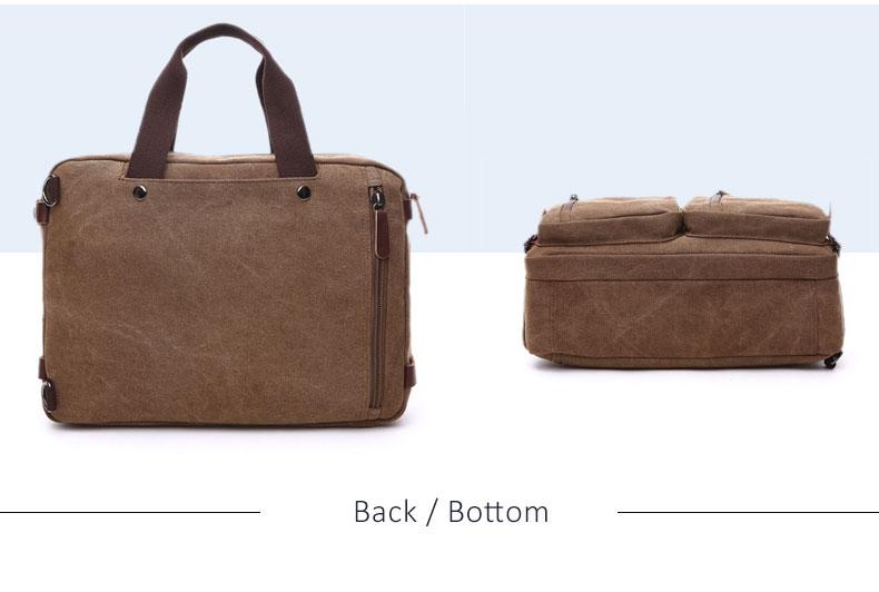 HTB1V4WTB8mWBuNkSndVq6AsApXaY Scione Men Canvas Bag Leather Briefcase Travel Suitcase Messenger Shoulder Tote Back Handbag Large Casual Business Laptop Pocket