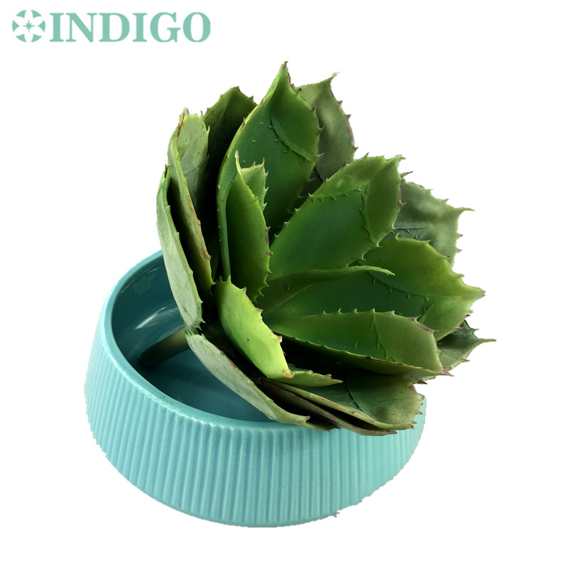 INDIGO- Wholesale 50 pcs Green Big Desert Aloe Succulent Plant Plastic Flower Decoration Green Plant Background Free Shipping