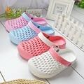 Frete Grátis Doce Cor Mulheres Sapatos Jardim Mulheres Respirável Sapatos de Praia Chinelos HSA21