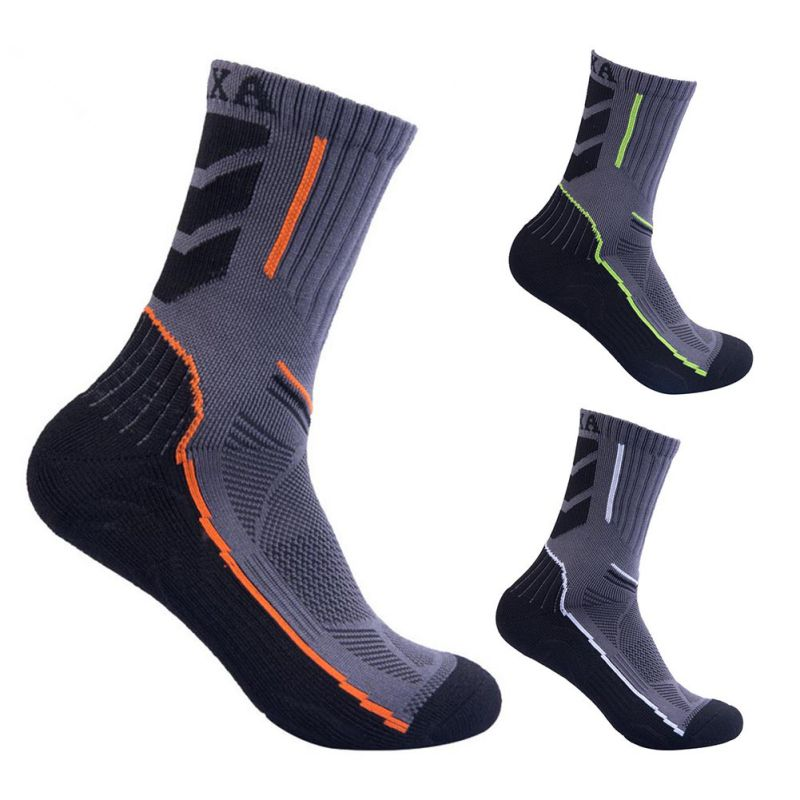 Outdoor Climbing Hiking Cycling Running Quick Dry Breathable Absorb Sweat Antibacterial L2 Skiing Socks Men High-top Sport Socks