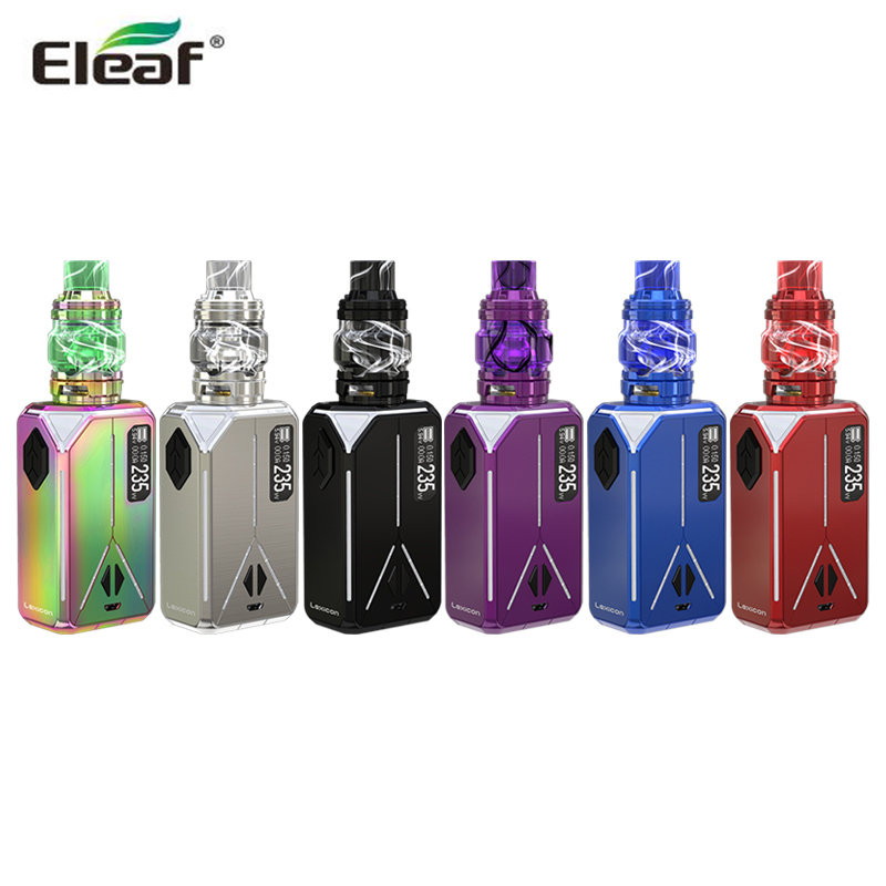 цена на Original Eleaf Lexicon with 6.5ML ELLO Duro Pmma Tank Kit Electronic Cigarette Vape 235W Lexicon Box MOD with HW-M HW-N Coils