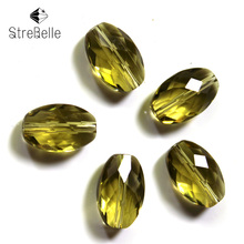 цена на AAA26 Free Shipping Wholesale Grade Crystal oval shape Beads Multi Color 42faces shinning beads