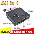 """Tudo Em 1 Leitor de Cartão Interno USB 2.0 3.5 """"floppy Bay Painel Frontal Leitor de Cartão de Leitor de Cartão de Memória Flash USB"""