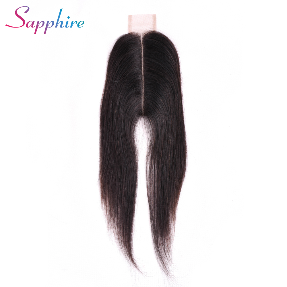 Sapphire 2x6 Straight Lace Closure Brazilian Human Hair Closure With Baby Hair
