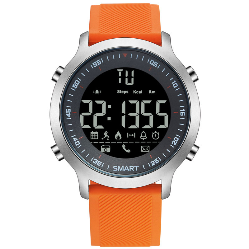 Orange Sport Smart Watch Professional 5atm Waterproof Bluetooth Call Reminder Digital Men Clock Smartwatch For Ios And Android