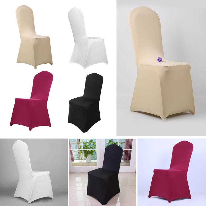 Stretchable Banquet Chair Covers Hotel Wedding Party Seat Covers Solid Color Elastic Chair Decoration Covers Protective Cases