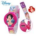 100% Genuine Da Disney Princesa Marca Crianças Assistem relógio de Forma Estudante Linda Garota Analógico Esportes Relógios de Pulso 89004-79