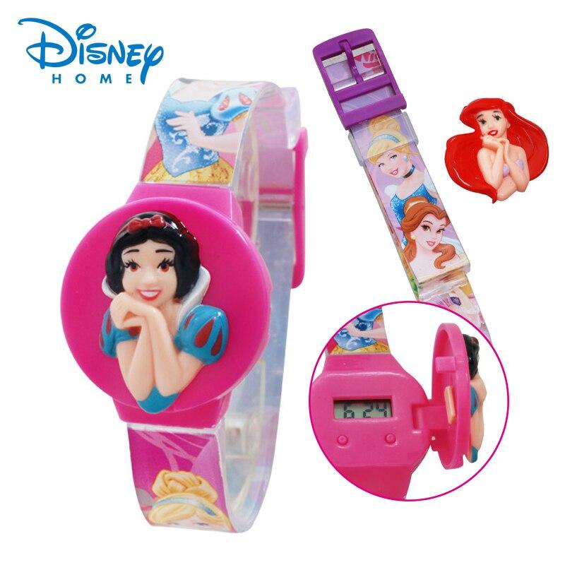 100% Genuine Disney Princess Brand Watch Children Watch Fashion Girl Student Cute Sports Analog Wrist Watches 89004-79 Last Style Watches