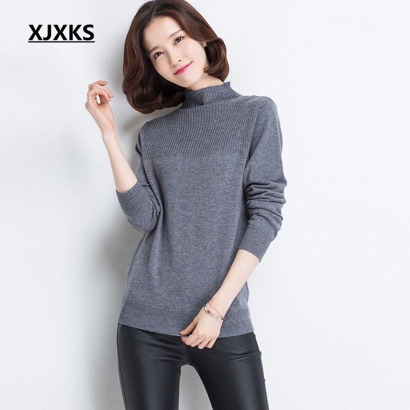 d9675180854 La De 100 Pure Noir Basant Automne gris Chemise Xjxks Confortable Femmes  Chandail Laine bleu Cou rouge 2019 Haute Nouveau Chaud Hiver Tricoté  Yqfpwq5x7O