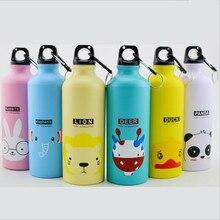 500ML aluminum sports water bottle creative animal family outdoor leak