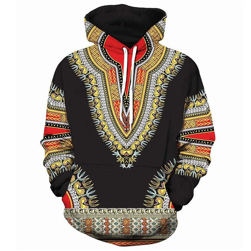 Hooded Sweatshirt Tracksuit Hip-Hop African Dashiki Casual Men Women