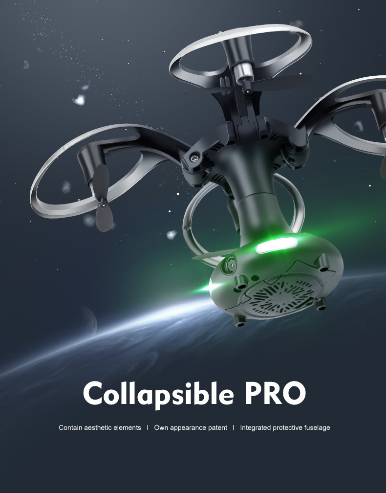 New Flying Ball 415B 415C Mini Drone With 0.3MP Camera Foldable RC Drone 2.4G 4CH RC Helicopter Headless Dron Altitude Hold Quad