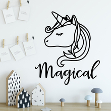 New Design unicorn Home Decoration Accessories For Kids Room Wall Art Sticker Murals