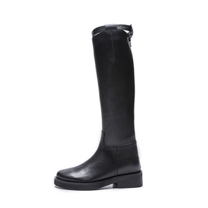 Image 2 - MORAZORA 2020 أعلى جودة جلد طبيعي حذاء برقبة للركبة النساء جولة تو ساحة الكعوب الخريف الأحذية سستة أحذية أنيقة امرأة