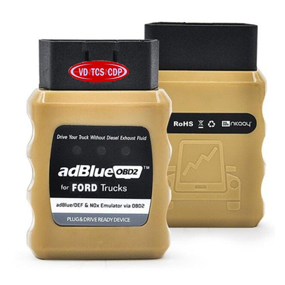 Prix pour 2017 Date AdBlue OBD2 Pour R-ENAULT/IVE/DAF/HOMME/F0RD/B-ENZ/VOLV0 Camions Adblue émulateur AdblueOBD2 Livraison gratuite