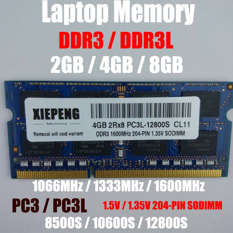 Laptop 4GB <font><b>DDR3</b></font> 1333MHz PC3 10600 RAM 8GB 2Rx8 PC3L-12800 S 2GB PC3-8500S <font><b>1066MHz</b></font> Notebook Memory Support <font><b>DDR3</b></font> 1600mhz Computer image