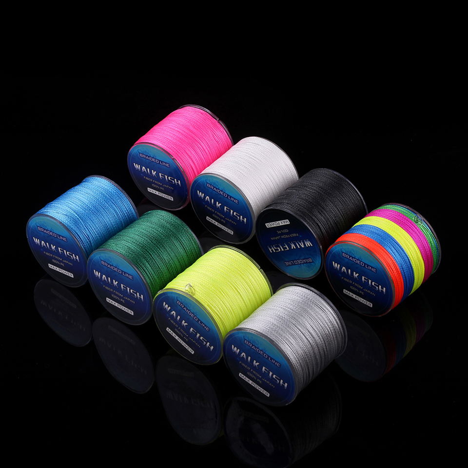 WALK FISH 100M 4 Strands Multifilament PE Braided Fishing Line 0.3-12.0# 8-150LB Super Strong Braided Line Fishing Lines