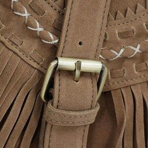 Image 3 - Lilyhood bolsa feminina com franja, estilo boho, de camurça falsa, com borla, estilo boho, ginástica, boêmia, tribais, ibiza, estilo carteiro e bolsa de corpo cruzado 2020