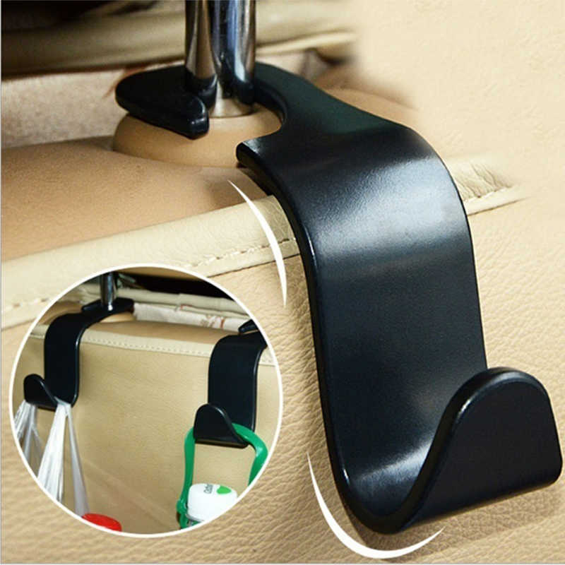 1pcs Car Seat Back Hook Vehicle Hidden Headrest Hanger Clips for Shopping Bag Car Organizer Storage Holder for Bags Accessories