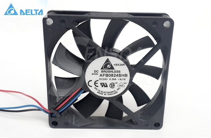 Wholesale for delta Electronics AFB0824SHB 8015 80mm 8cm <font><b>80X80X15</b></font> mm DC 24V 0.26A 3-pin industrial server cooling <font><b>fan</b></font> image