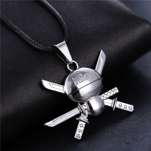 One Piece Roronoa Zoro Skeleton Skull Necklace