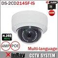 ХИК DS-2CD2145F-IS Заменить DS-2CD3145F-IS 4MP H.265 HEVC IP-камера с TF слот для карты Mini Dome POE IP-камеры видеонаблюдения