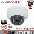 HIK DS-2CD2145F-IS Substituir DS-2CD3145F-IS H.265 HEVC 4MP Câmera IP com Slot Para Cartão TF Mini Dome IP POE CCTV Camera