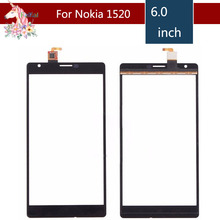 6.0 For Nokia Lumia 1520 N1520 LCD Touch Screen Digitizer Sensor Outer Glass Lens Panel Replacement 3 5 for nokia n8 n 8 lcd touch screen digitizer sensor outer glass lens panel replacement
