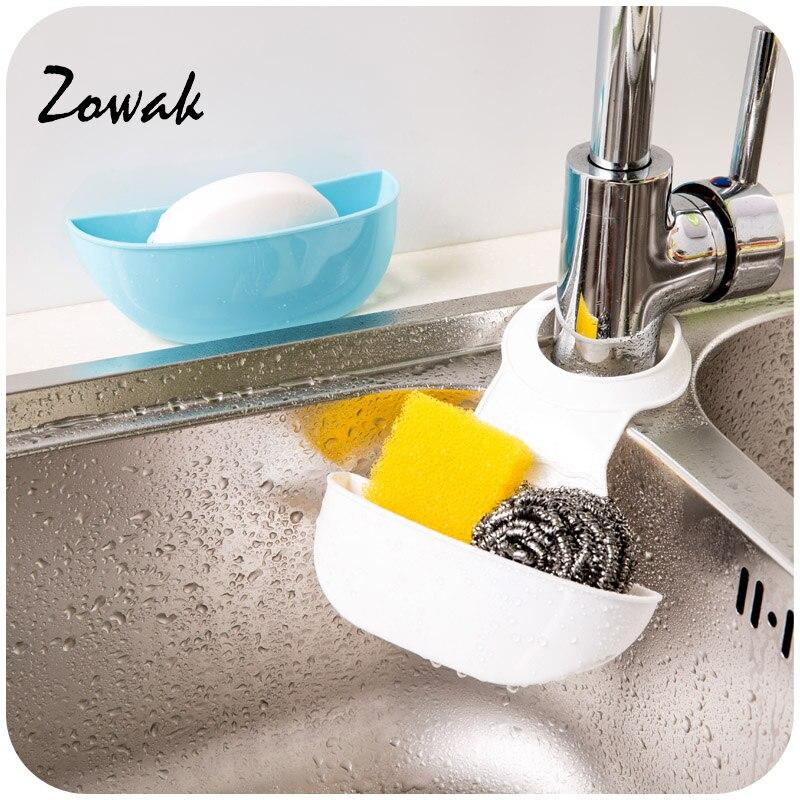 Adjustable Buckle Sink Sponge Holder Bag Kitchen Bathroom