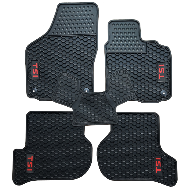 Custom Rubber Car Floor Mats for Volkswagen Golf Scirocco R 6 RHD Right Hand Drive With TSI ABT R Logo Waterproof Durable Carpet