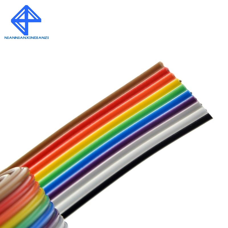 Top 10 Ribbon Cable 1 Way Flat Color Rainbow Ribbon Cabl