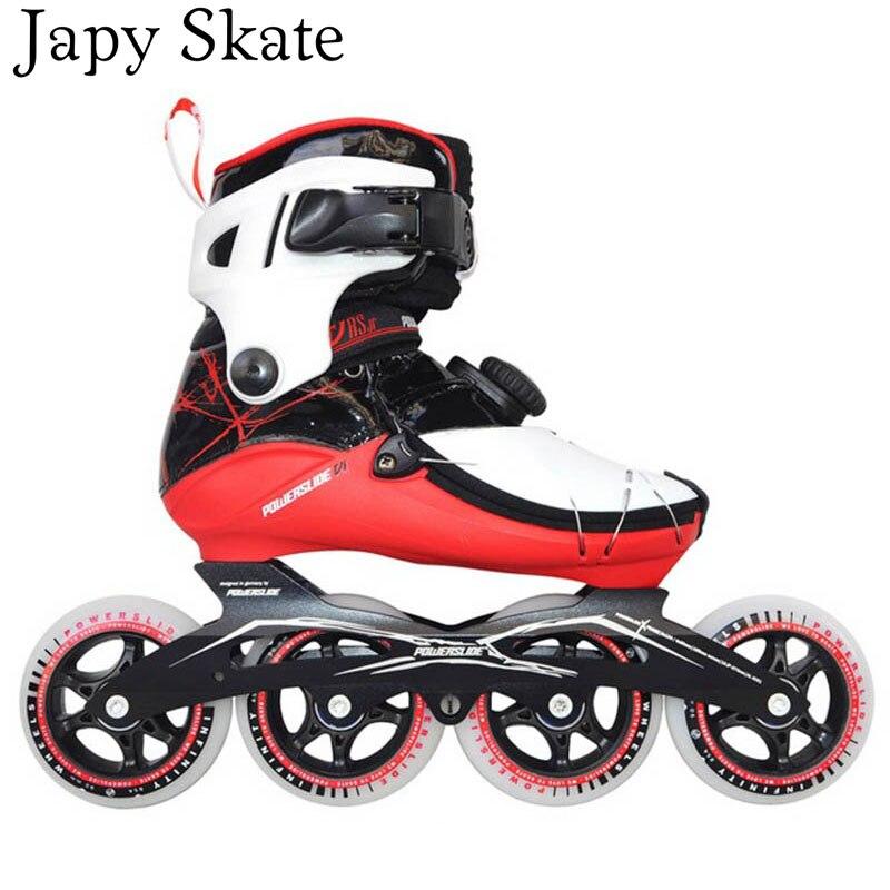 Prix pour Jus japy Skate 100% D'origine Powerslide VIRUS JUNIOR En Fiber De Carbone Vitesse Patins À Roues Alignées Enfant Professionnel De Patinage Chaussures Patines