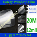 12 Mil Security Window Clear Safety Film 0.3mm safety window film 33ft*5ft(1.52*20meter)