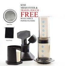 Freies verschiffen Ähnliche Aeropress Espresso Tragbare Kaffeemaschine Haole Drücken Kaffeemaschine presse maker Mit Metall Filter