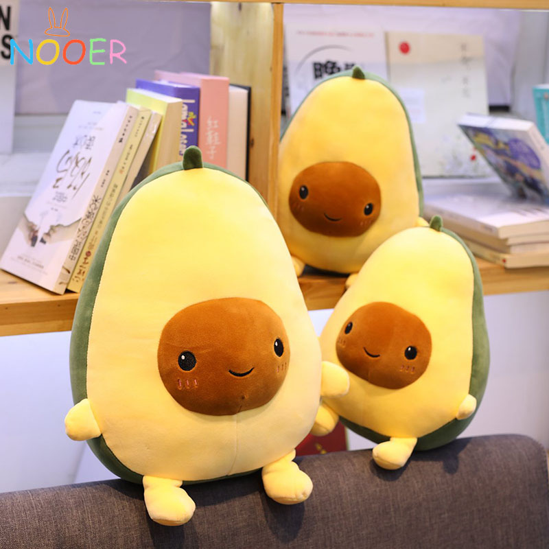 Nooer Avocado Fruits Plush Toys Soft Avocado Pillow Cushion Cute Plush Doll Kids Toys Birthday Gift For Kids
