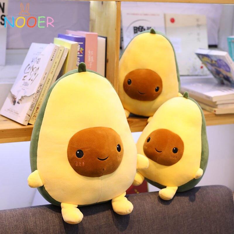 Nooer Avocado Fruits Plush Toys Soft Avocado Pillow Cushion Cute Plush Doll Kids Toys Birthday Gift For Kids