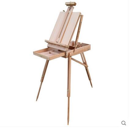 2017 Imported red beech German imports of portable oil painting box/easel by Handmade with natural wood oil painting supplies italian red elm oil box new four feet easel multi function easel with oil painting box made by natural red ju wood